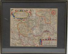 MAPS - Christopher SAXTON (1540-1610). Middlesex olima trinoban tibus habitata.