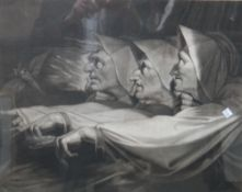 After Henry Fuseli, The Weird Sisters (Witches), mezzotint by J. R. Smith, 45cm x 56cm.