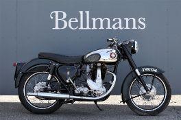 A 1957 BSA B31 350cc Black Star motorcycle,