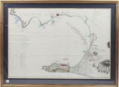 GIBRALTAR - A Chart of the Bay of Gibraltar, including a small Plan of that Fortress,