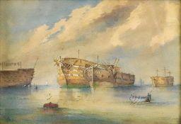 R Brillen (19th Century), Marine scene,