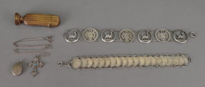 A bracelet composed of Peruvian silver c