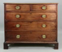 A George III mahogany chest, fitted with