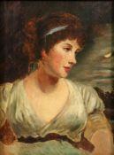 English School, 19th Century, A portrait