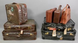 A set of three pieces of vintage leather