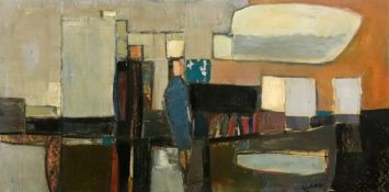 Larry Wakefield, (1925-1997), Untitled, Woman in blue, signed 'Wakefield' (lower right),
