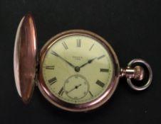 An Elgin gilt metal keyless wind pocket