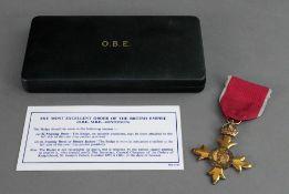 A O.B.E. cased by Thomas Fattorini.