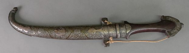An Indian dagger, 19th century, with cur