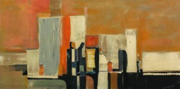 Larry Wakefield, (1925-1997), Untitled, Abstract, signed 'Wakefield' (lower right), oil on board,