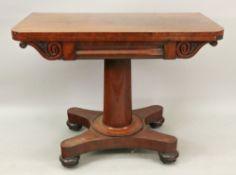 An early Victorian mahogany fold-over to