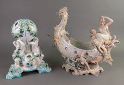 An English porcelain flower vase, probab