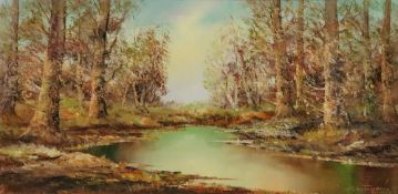 Aldo Mantovani (b. 1920), A woodland pon