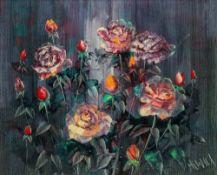 English School, 20th Century, Roses, ind
