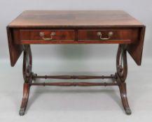 A reproduction Regency style mahogany eb