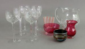 A contemporary small Maltese glass bowl,