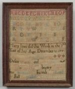 A collection of four needlework samplers