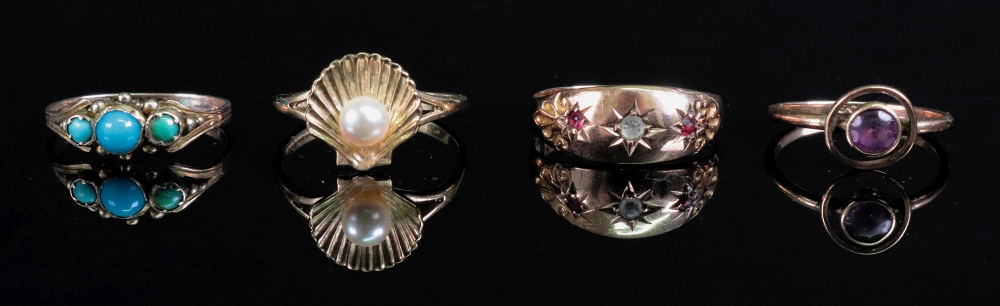 Lot 224 - A 9ct gold scallop shell and cultured pe