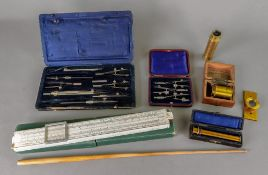 A late Victorian leather cased set of st