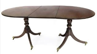 A George III style mahogany 'D' end dini