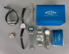 A lady's Rotary Sapphire stainless steel