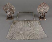 A pair of Indian metalware figures of pe