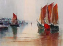 European School, 20th century, Boats in