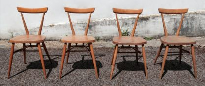 A set of four Ercol kitchen Windsor chai