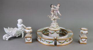 A 'Naples' porcelain centrepiece, 20th c