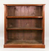 An Edwardian mahogany dwarf open fronted