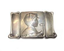A lady's silver Art Nouveau waist belt buckle,