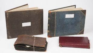 Royal Navy Interest, a group of two scrapbooks and a framed photograph, includes - 1. H.S.C.