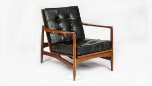 KOFOD LARSEN 1921-2003, a model 1b open armchair for G-PLAN circa 1965, 76cm wide x 74cm high.