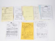 Production call sheets and scripts, a group of approximately 100, mostly TV Productions,
