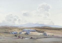 E. Loershaw (20th century), Farm in a landscape; Lake landscape;