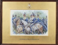 G** Clark (early 20th century), 10th (Prince of Wales's own) Hussars, watercolour, signed,