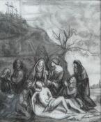 Continental School (19th/20th century), The Lamentation of Christ, charcoal, 29cm x 24cm.