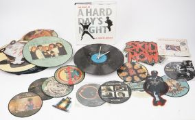 A collection of picture disc vinyl records, 33rpm and 45rpm, various artists, including David Bowie,