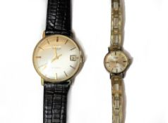 A Universal Geneve Automatic 18ct gold circular cased gentleman's wristwatch,