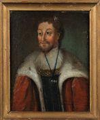 Scandinavian School (18th century), Portraits of thirteen Danish Kings and one Queen, fourteen,