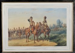 Orlando Norie (Belgian, 1832-1901), The 10th Prince of Wales's Own Royal Hussars: Under Lieut.-Col.