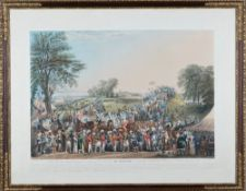 After George Bryant Campion, The procession ad Montem, aquatint by Charles Hunt,