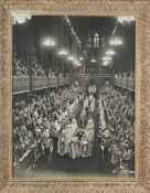 Coronation photograph, framed and glazed, 92cm x 72cm.