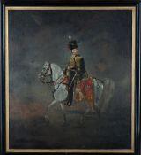 English School (19th century), Mounted Portrait of Hamilton Beckett, late 10th Hussars (b.