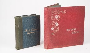 Two postcard albums, mostly topographical including India and Great Britain.
