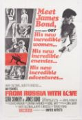 Film Poster; 'Meet James Bond' 'From Russia with Love, 1964 US re-release, United Artists,