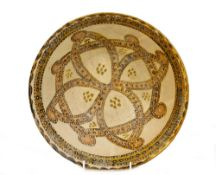 A Nishapur pottery bowl, possibly 10th century,