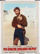 Vintage film poster; 'Per Qualche Dollaro in Piu' (For a Few Dollars More) Italian,
