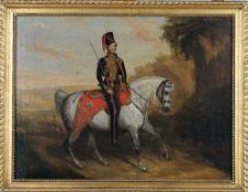 English School (19th century), Mounted Portrait of Colonel Henry F. Bonham (d.