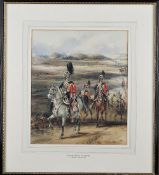 Henry Martens (British, 1828-1860), The 10th Royal Hussars, in a column, in an extensive landscape,